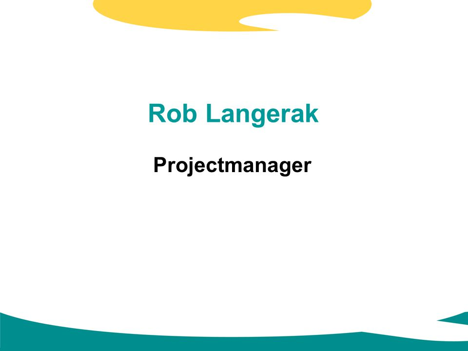 Rob Langerak Projectmanager