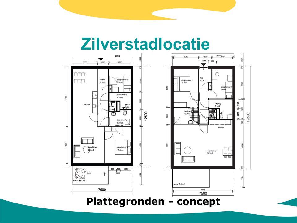 Zilverstadlocatie Plattegronden - concept