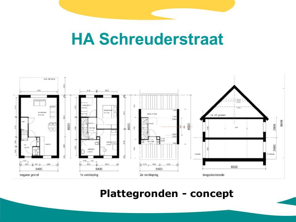 HA Schreuderstraat Plattegronden - concept