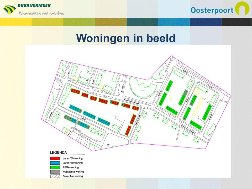 Plan van aanpak maken, najaar 2013 – Jaren 50-woning – PG woning – Eind jaren 60-woning Start realisatie in drie fasen, nog in te plannen Planning