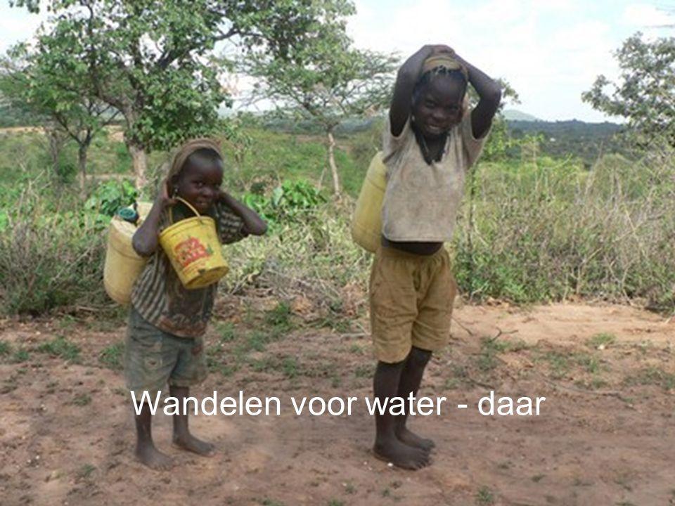 Wandelen voor water - hier