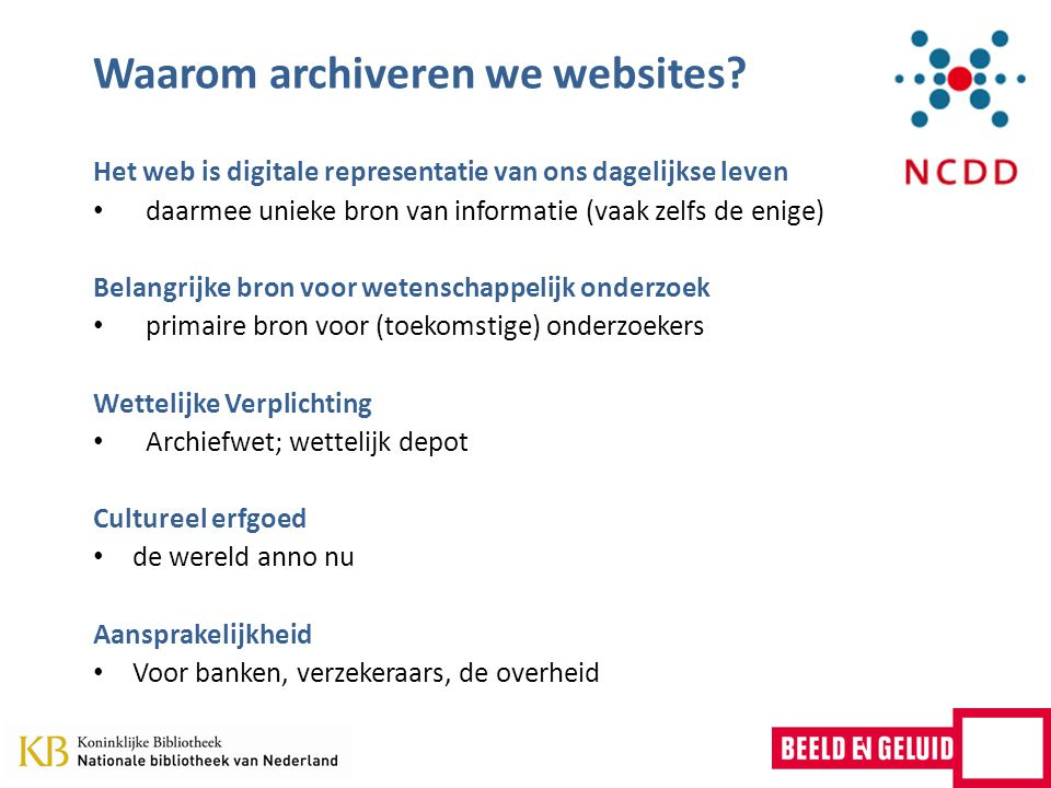 Waarom archiveren we websites.