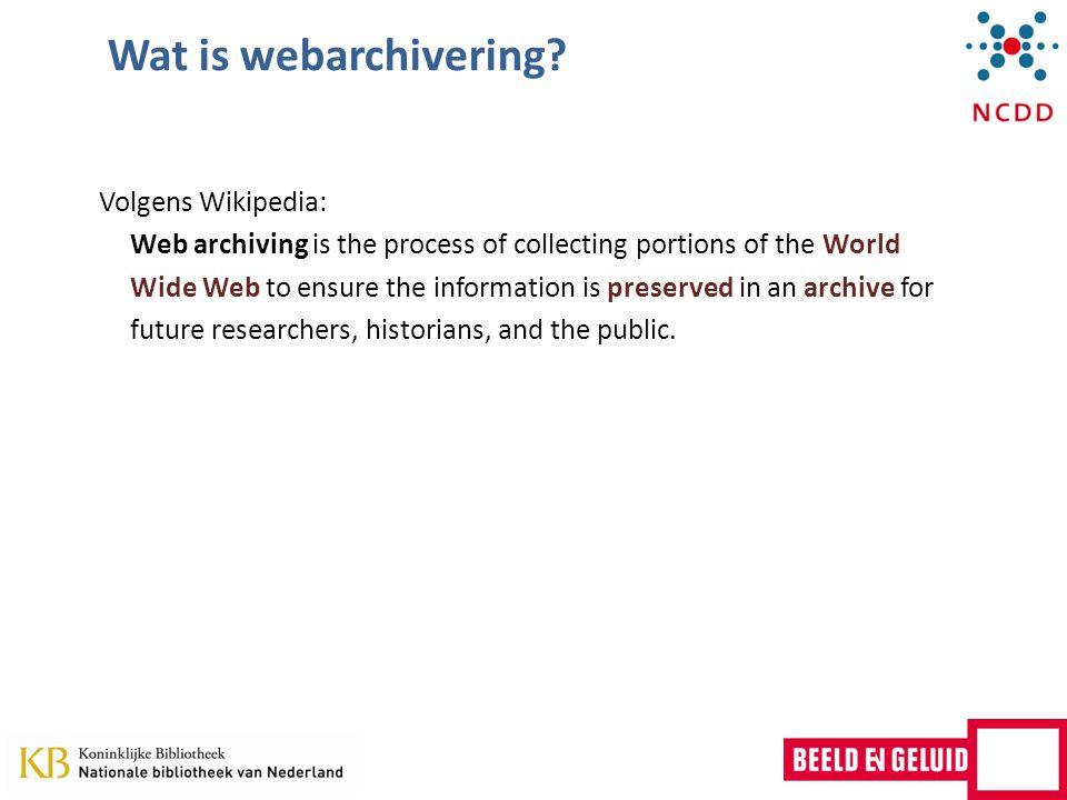 Waarom archiveren we websites?..estimates put the average lifetime for a URL at 44 days.