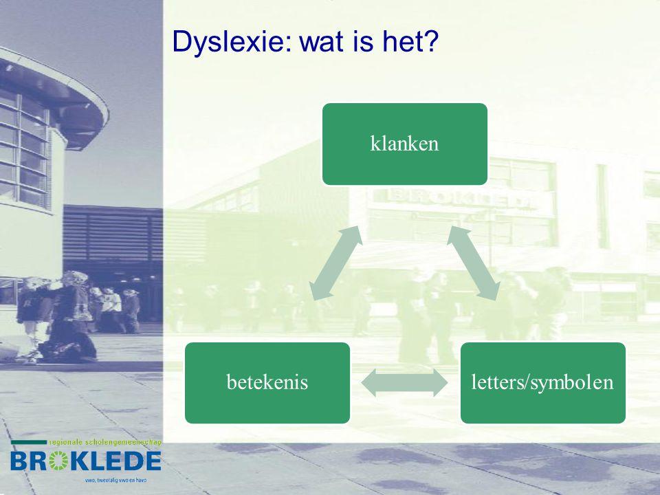 Dyslexie: wat is het? klankenletters/symbolenbetekenis