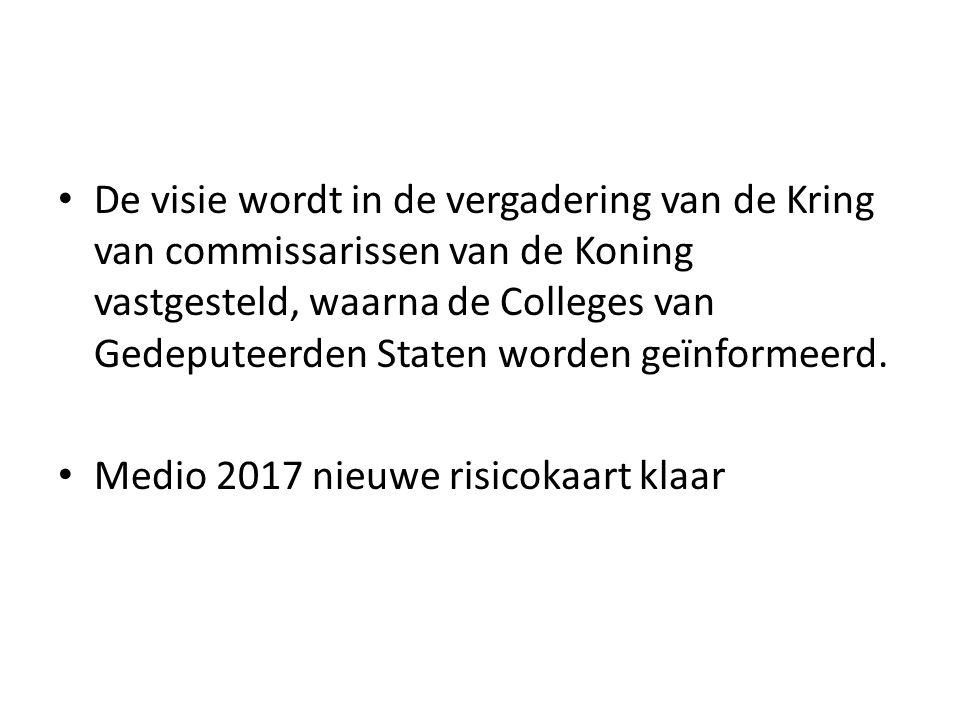 De visie wordt in de vergadering van de Kring van commissarissen van de Koning vastgesteld, waarna de Colleges van Gedeputeerden Staten worden geïnformeerd.
