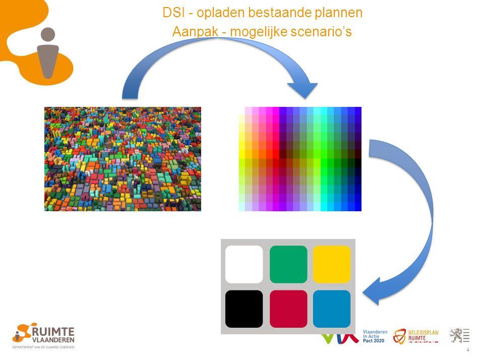 4 DSI - opladen bestaande plannen Aanpak - mogelijke scenario's
