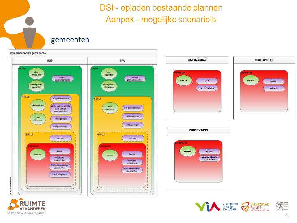 5 gemeenten DSI - opladen bestaande plannen Aanpak - mogelijke scenario's