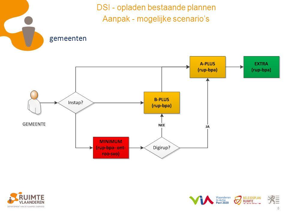 6 gemeenten DSI - opladen bestaande plannen Aanpak - mogelijke scenario's
