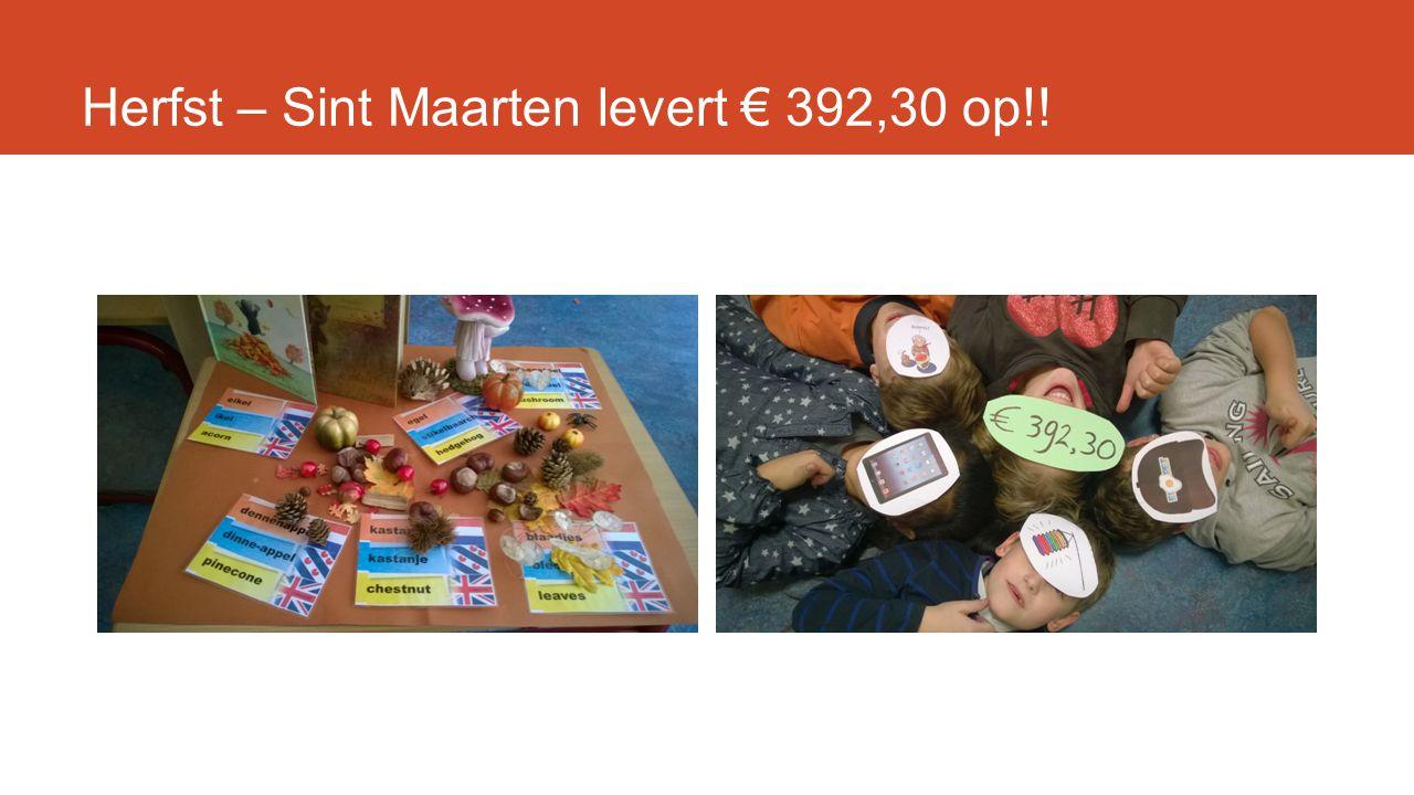 Herfst – Sint Maarten levert € 392,30 op!!