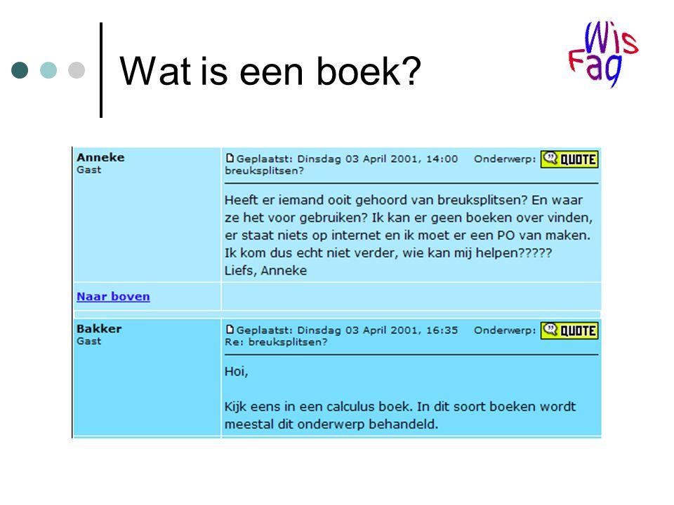 Wat is een boek