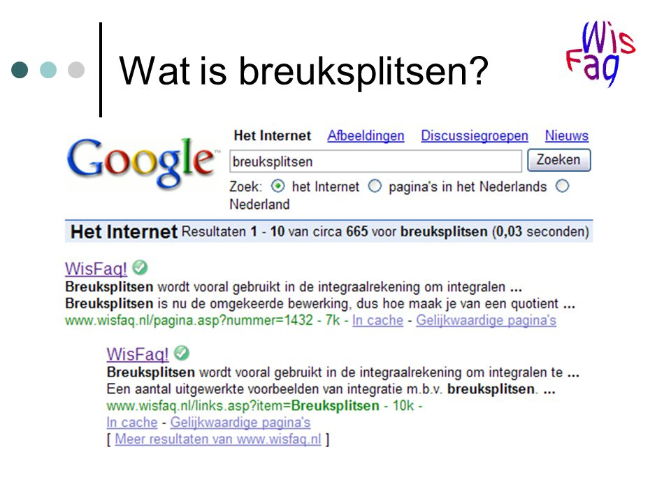 Wat is breuksplitsen