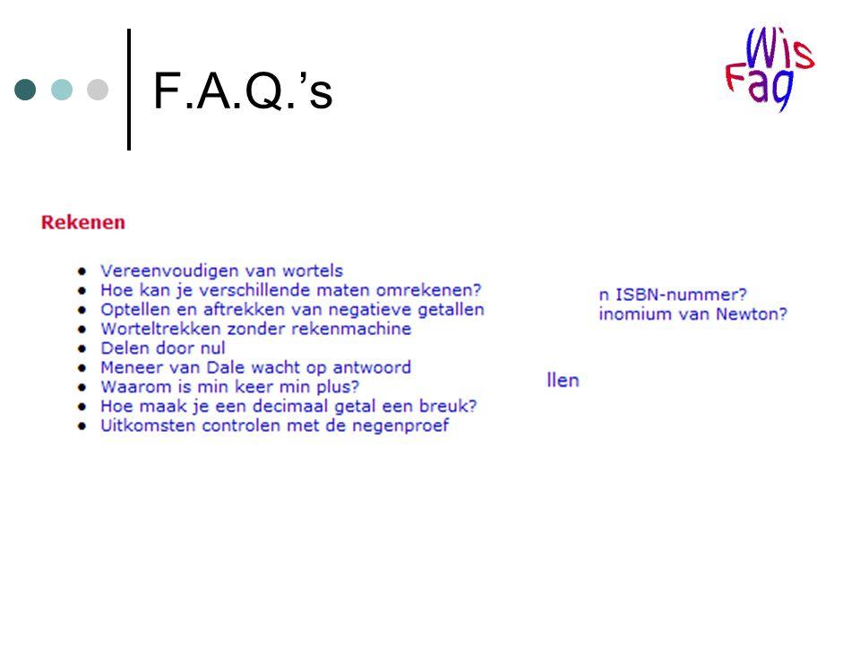 F.A.Q.'s