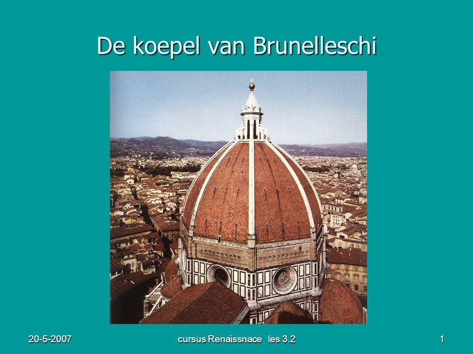 20-5-2007cursus Renaissnace les 3.21 De koepel van Brunelleschi