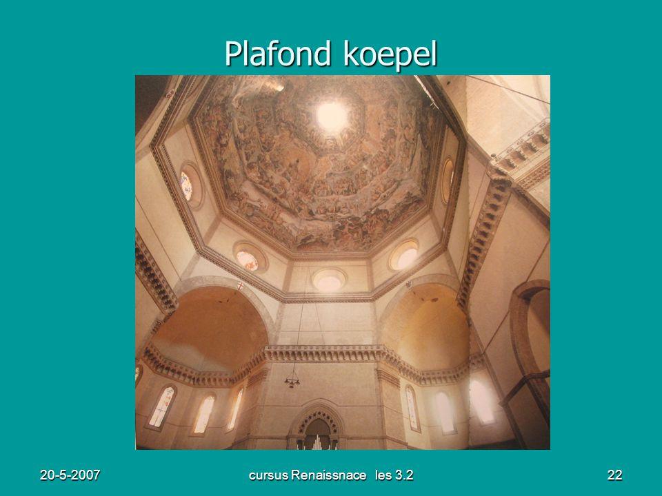 20-5-2007cursus Renaissnace les 3.222 Plafond koepel
