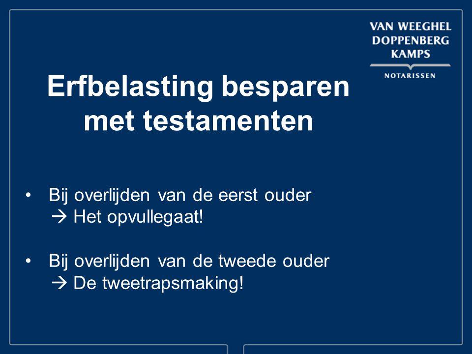 Bij overlijden van de eerst ouder  Het opvullegaat.