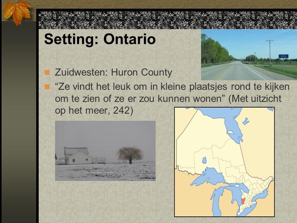 Zuidwesten: Huron County Ze vindt het leuk om in kleine plaatsjes rond te kijken om te zien of ze er zou kunnen wonen (Met uitzicht op het meer, 242)