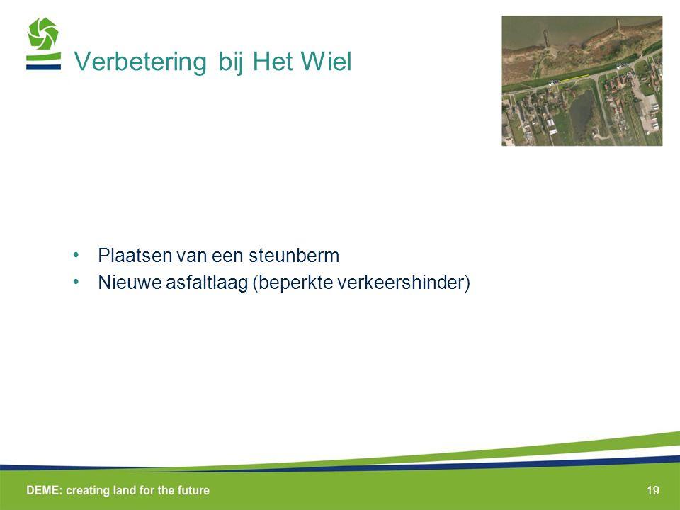 Verbetering bij Het Wiel Plaatsen van een steunberm Nieuwe asfaltlaag (beperkte verkeershinder) 19