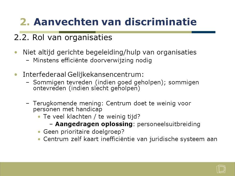 2. Aanvechten van discriminatie 2.2.