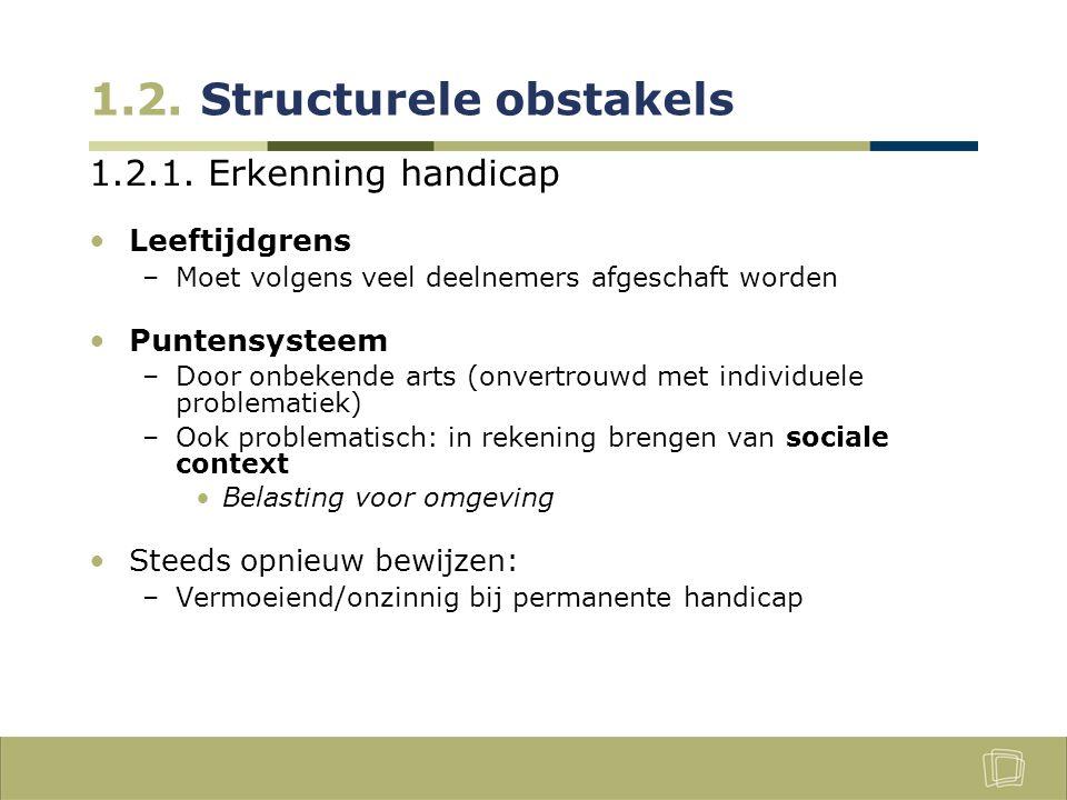 1.2.Structurele obstakels 1.2.2.