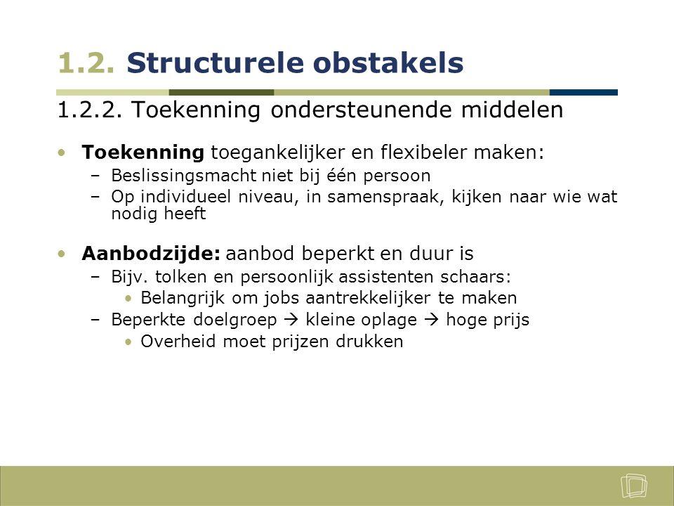1.2.Structurele obstakels 1.2.3.