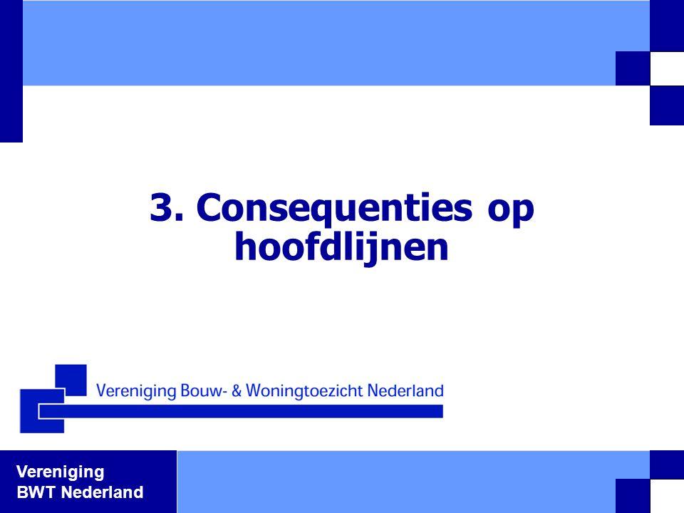 Vereniging BWT Nederland 3. Consequenties op hoofdlijnen