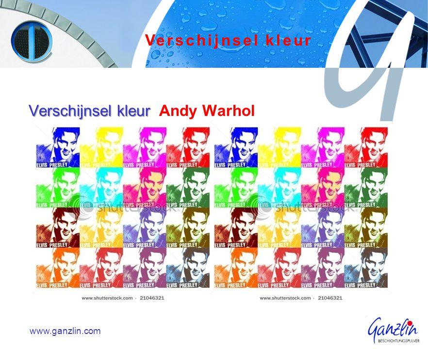 Verschijnsel kleur Verschijnsel kleur Andy Warhol www.ganzlin.com Verschijnsel kleur
