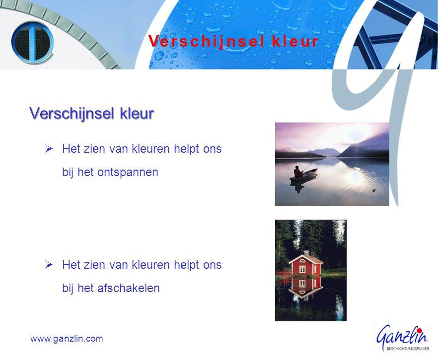 www.ganzlin.com Metamerie Metamerie is een verschijnsel dat optreedt als 2 (of meer) kleuren opelkaar afgestemd worden.