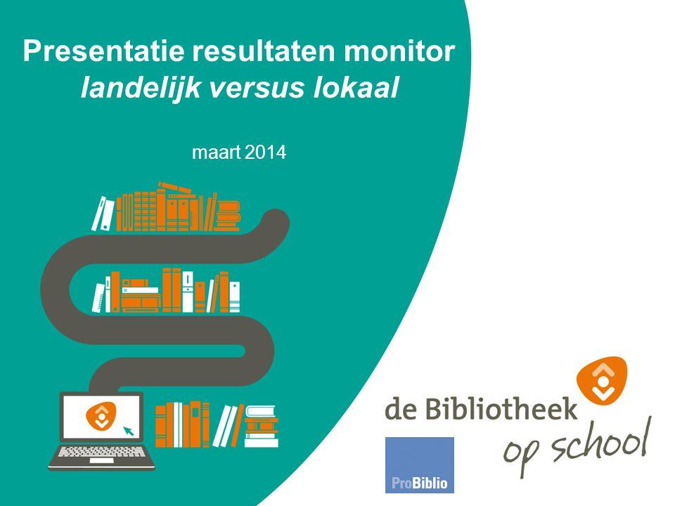 Presentatie resultaten monitor landelijk versus lokaal maart 2014