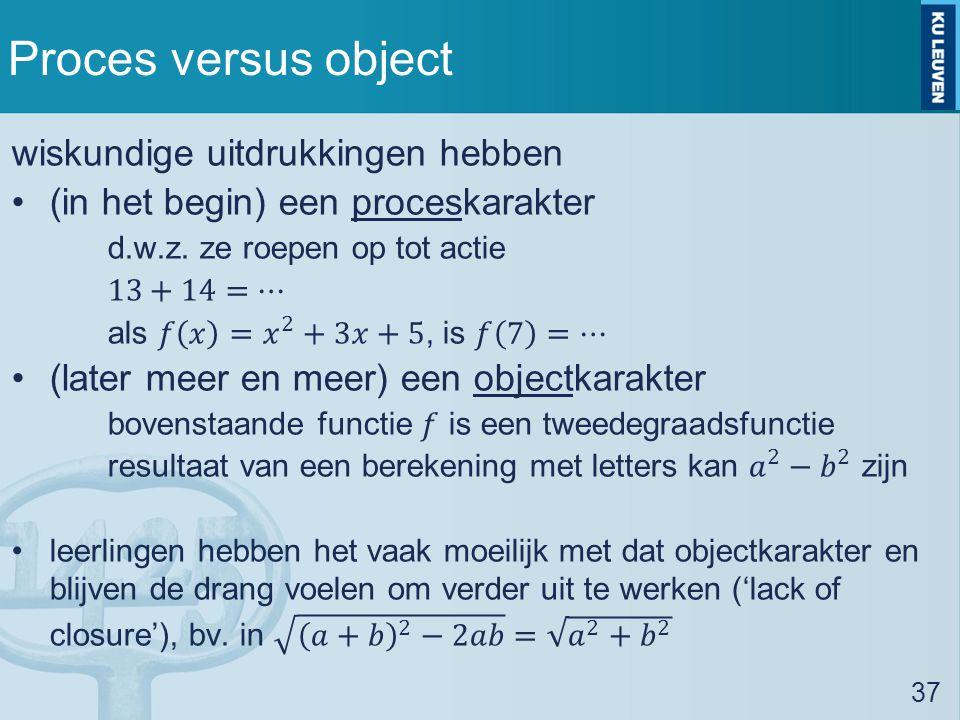 Proces versus object 37