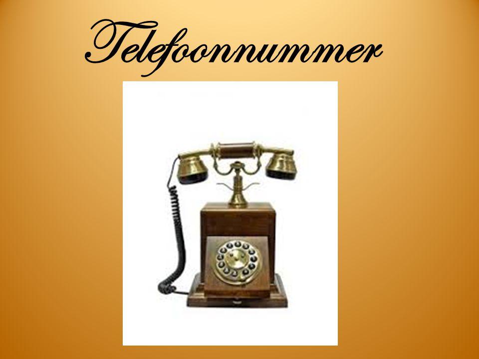 Telefoonnummer