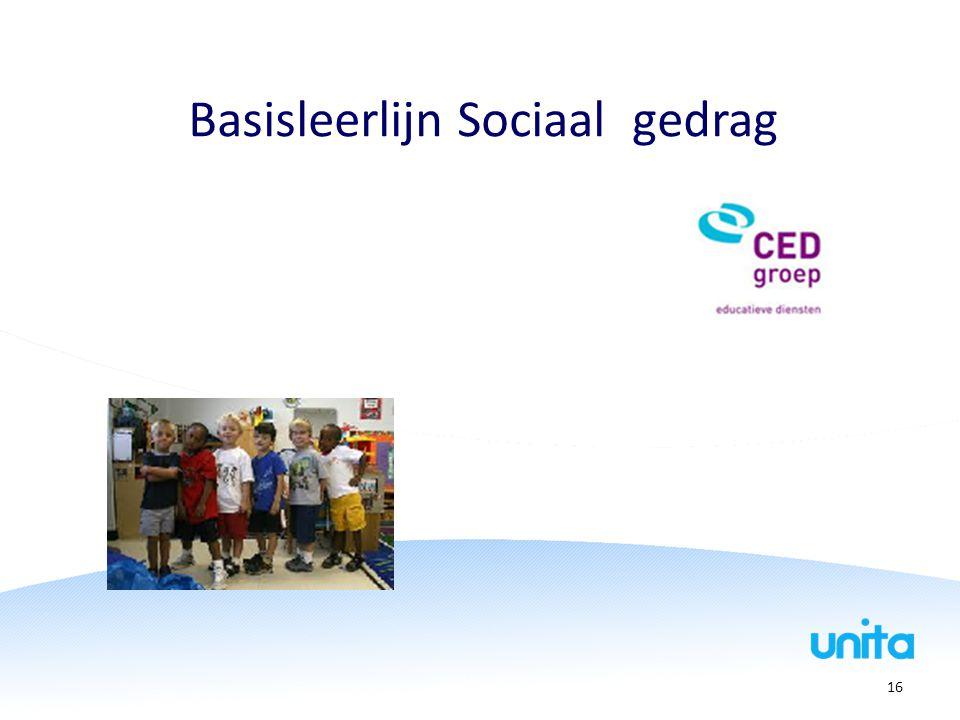 Basisleerlijn Sociaal gedrag 16