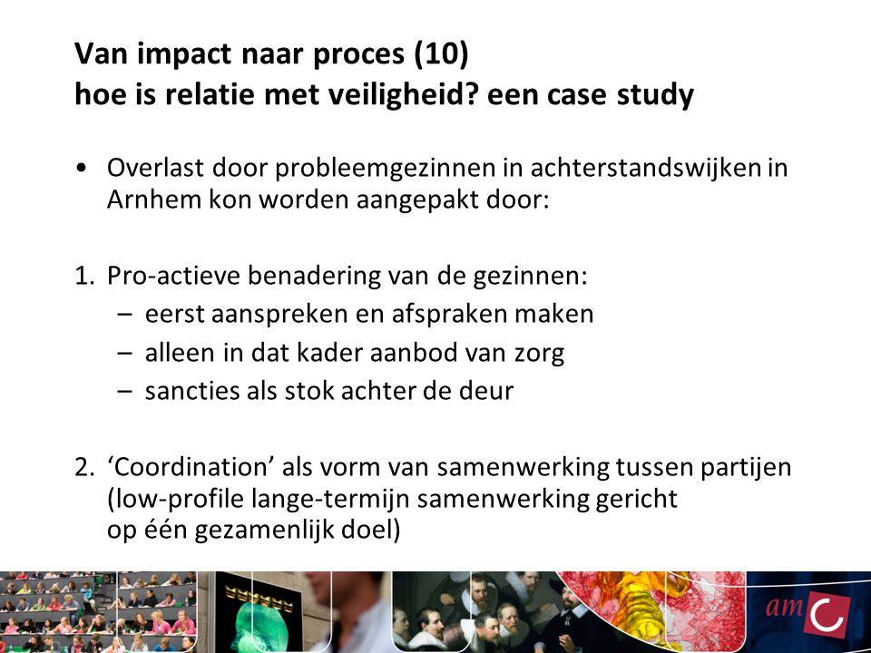 Van impact naar proces (10) hoe is relatie met veiligheid? een case study Overlast door probleemgezinnen in achterstandswijken in Arnhem kon worden aa