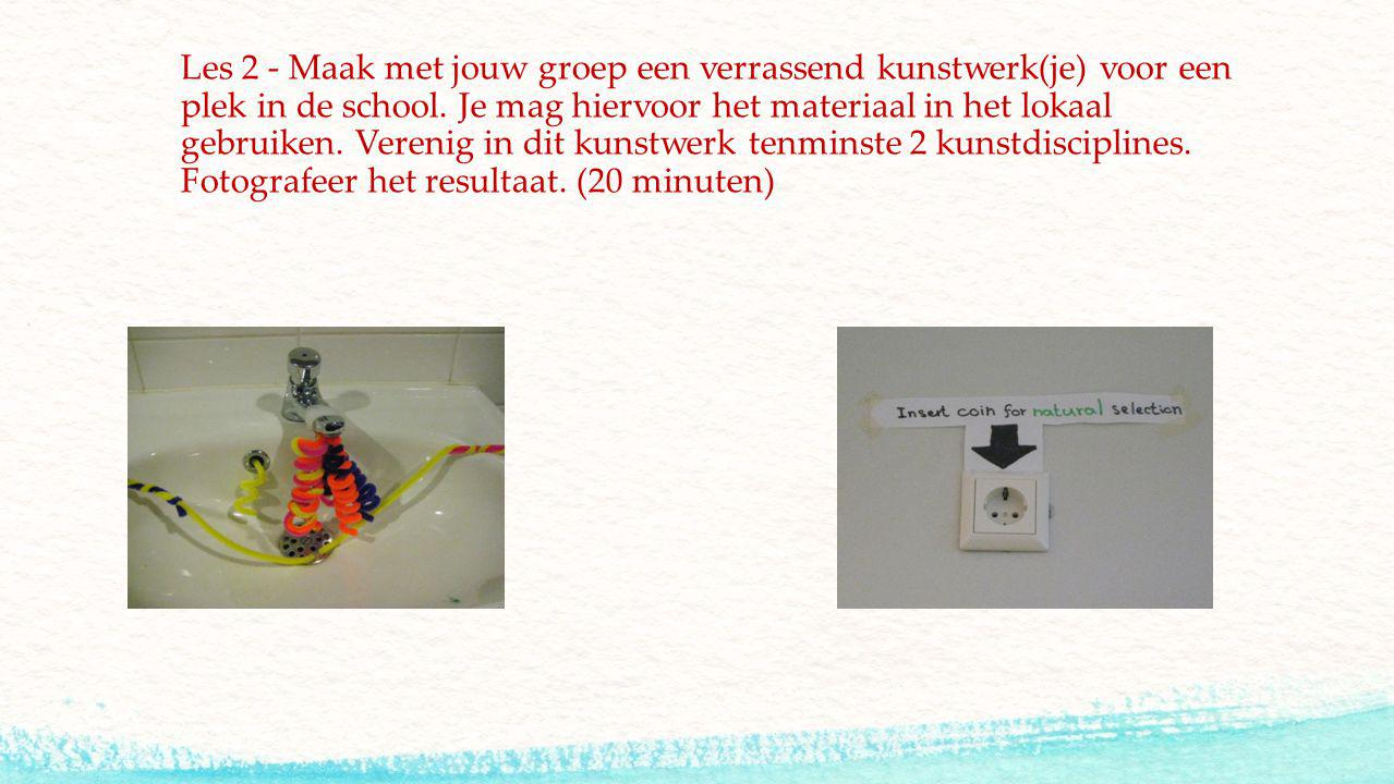 Les 2 - Maak met jouw groep een verrassend kunstwerk(je) voor een plek in de school.