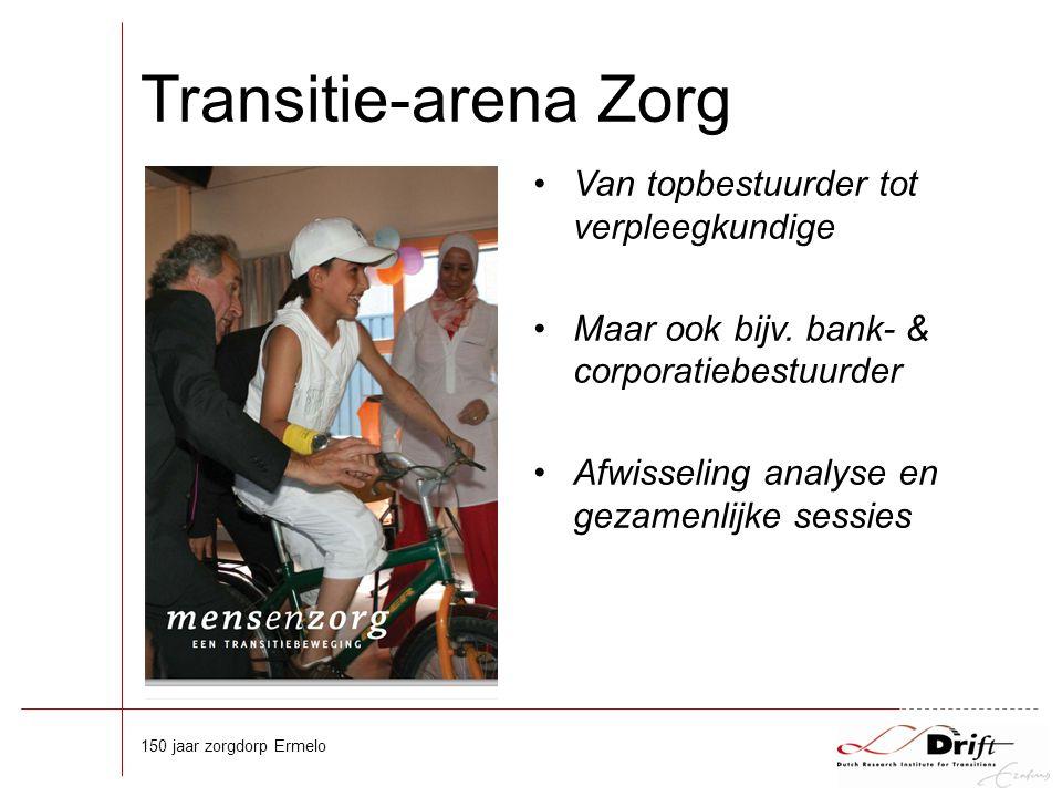 Transitie-arena Zorg Van topbestuurder tot verpleegkundige Maar ook bijv.