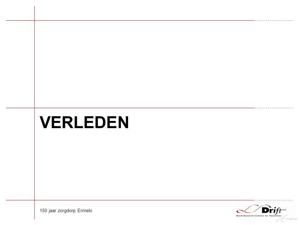 Nederland +/- 1820 Afbraak oude systeem door 'Franse tijd' Gildes opgeheven, medische beroepen ongereguleerd Religieuze gasthuizen verdwenen of vervallen tot sterfhuizen Na 1840 langzame groei overheidsregulering & onderwijs 150 jaar zorgdorp Ermelo