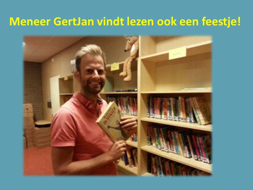 Meneer GertJan vindt lezen ook een feestje!