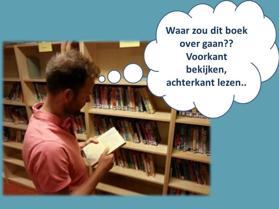 Waar zou dit boek over gaan?? Voorkant bekijken, achterkant lezen..