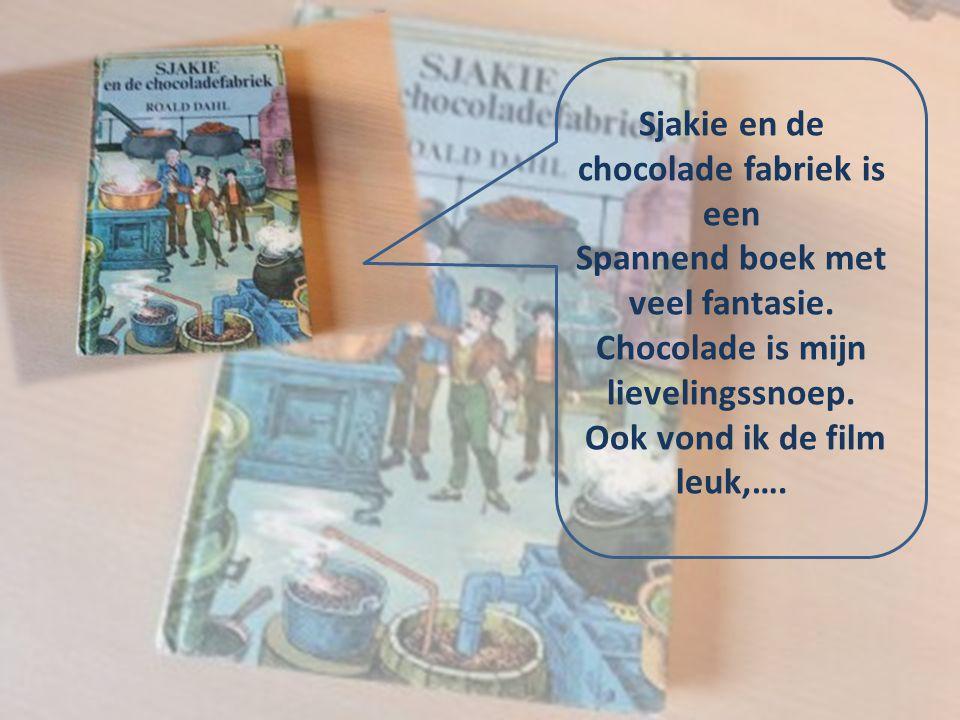 Sjakie en de chocolade fabriek is een Spannend boek met veel fantasie. Chocolade is mijn lievelingssnoep. Ook vond ik de film leuk,….
