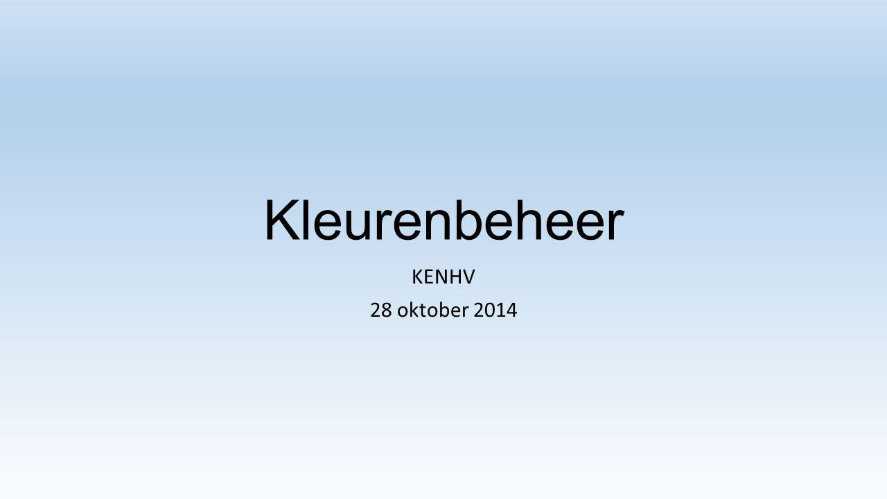 Kleurenbeheer KENHV 28 oktober 2014