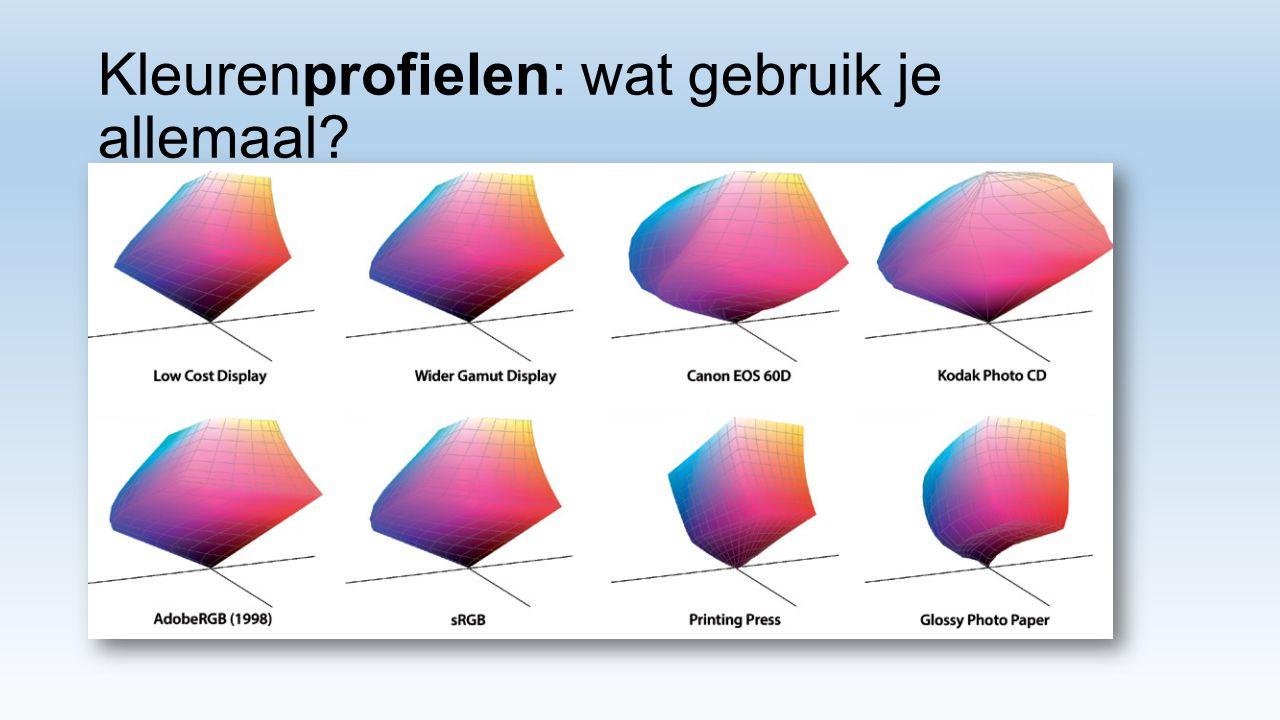Kleurenprofielen: wat gebruik je allemaal?