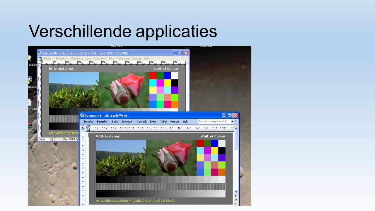 Verschillende kleurenruimtes Adobe RGB vs sRGB Adobe RGB vs Isocoated Pro scherm vs Macbook pro (vs Isocoated) Zie GAMUT VISION