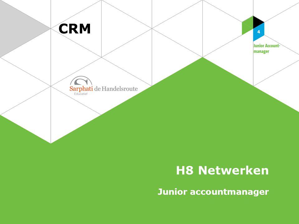 CRM H8 Netwerken Junior accountmanager