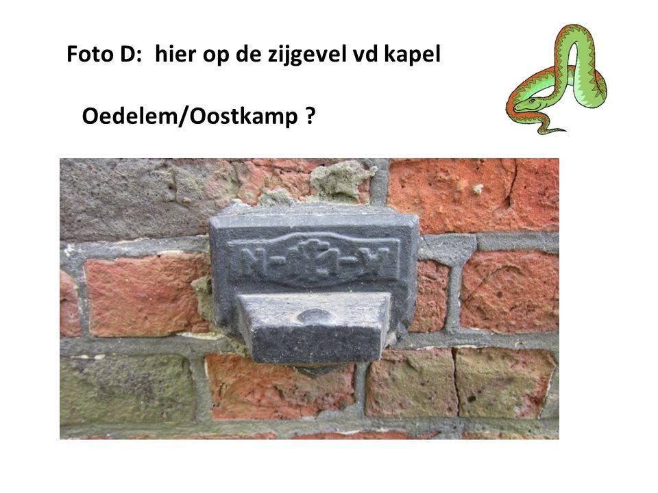 Foto D: hier op de zijgevel vd kapel Oedelem/Oostkamp