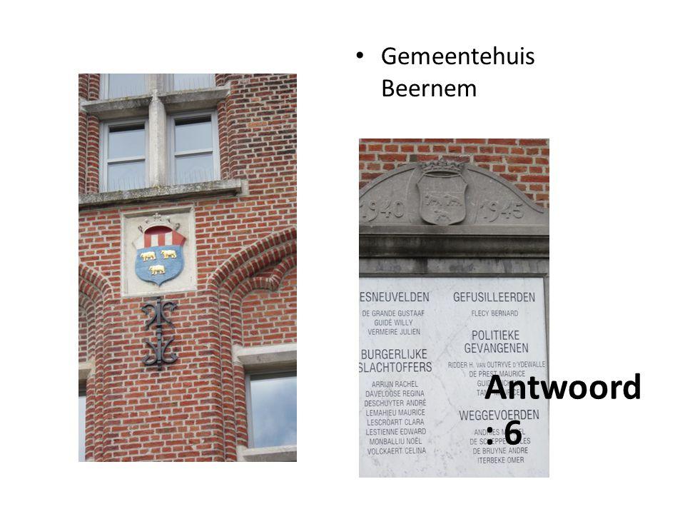 Gemeentehuis Beernem Antwoord : 6
