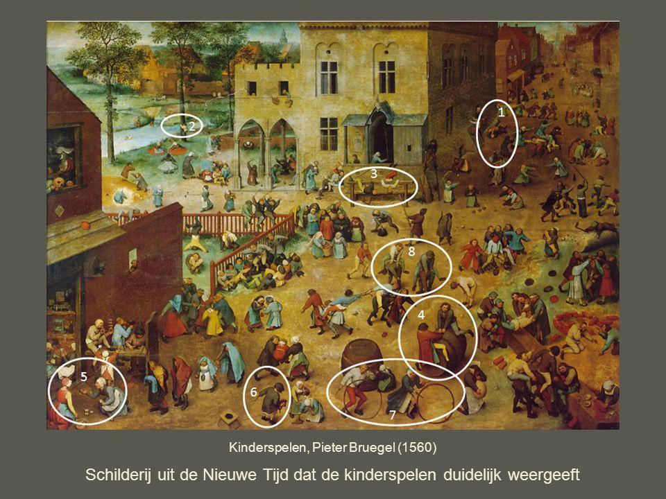 Kinderspelen, Pieter Bruegel (1560) Schilderij uit de Nieuwe Tijd dat de kinderspelen duidelijk weergeeft