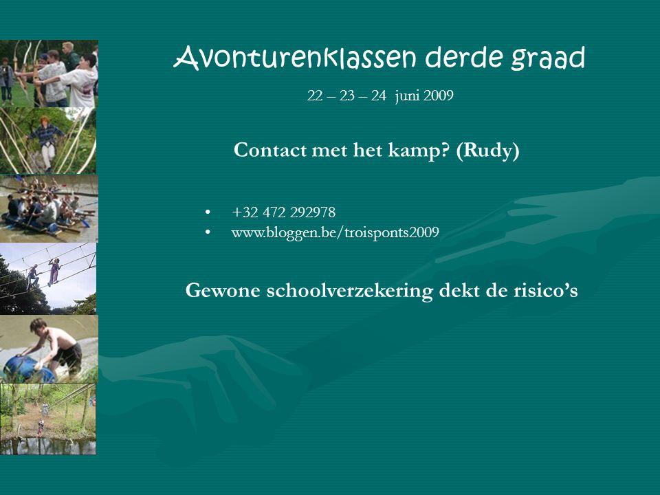 Contact met het kamp.