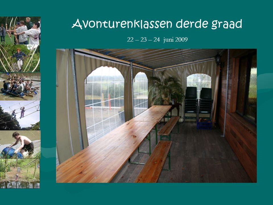 Avonturenklassen derde graad 22 – 23 – 24 juni 2009 Gebruik van het openbaar vervoer: juf Nathalie Zondagavond 18.00: bagage op school afgeven Maandag: trein Dinsdag: bus Woensdag: bus en trein