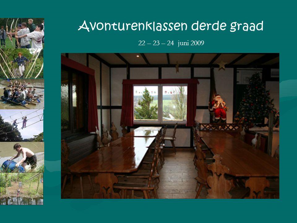 Prijs (directeur) Avonturenklassen derde graad 22 – 23 – 24 juni 2009