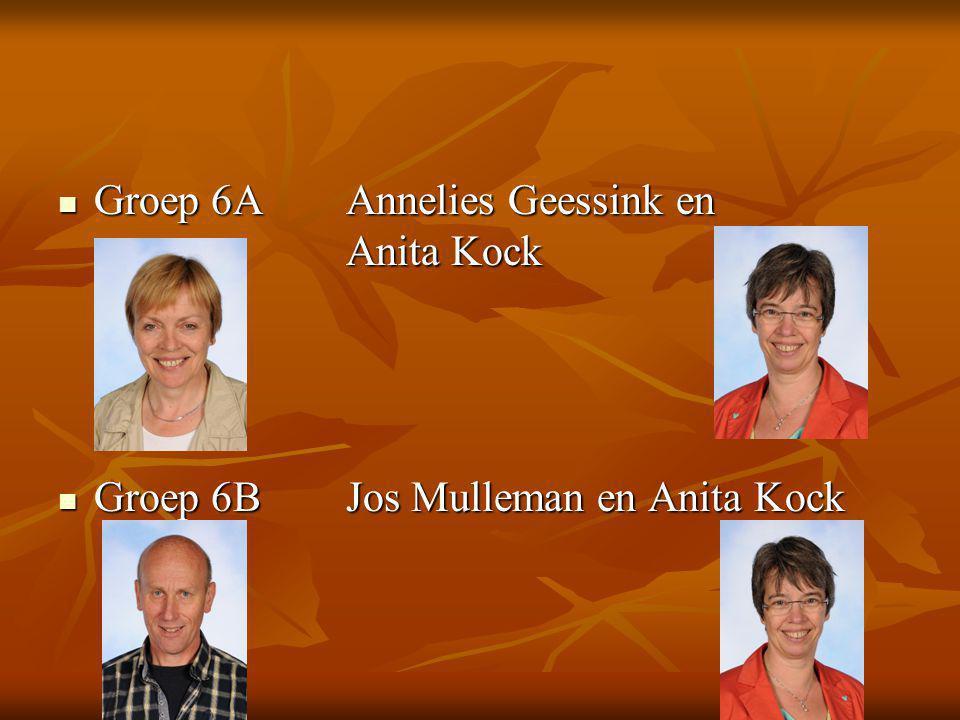 Groep 6AAnnelies Geessink en Anita Kock Groep 6AAnnelies Geessink en Anita Kock Groep 6BJos Mulleman en Anita Kock Groep 6BJos Mulleman en Anita Kock