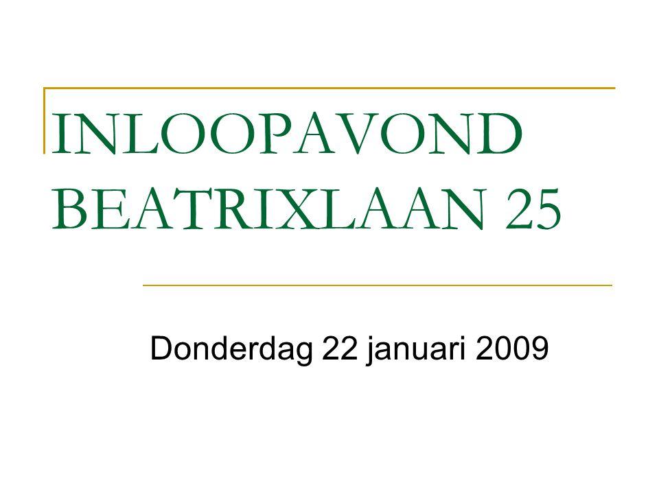 INLOOPAVOND BEATRIXLAAN 25 Donderdag 22 januari 2009